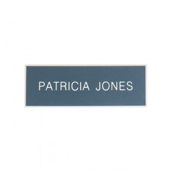 Engraved Name Badge With Beveled Edge