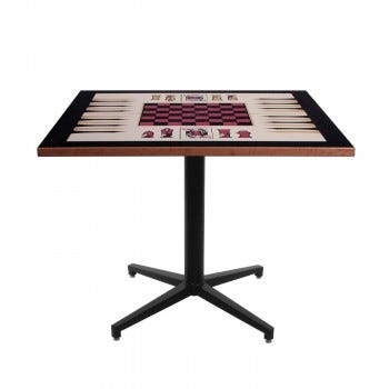 Square Pedestal Game Table (6123)