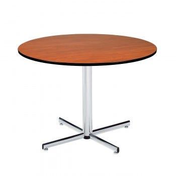 Round Pedestal Table with Black PVC Edge (6801)