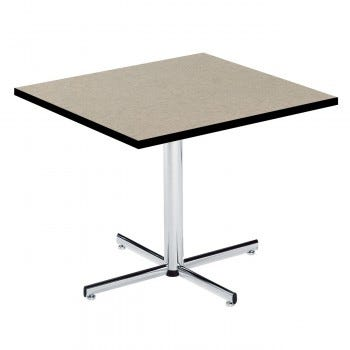 Square Pedestal Table with PVC Edge (6806)