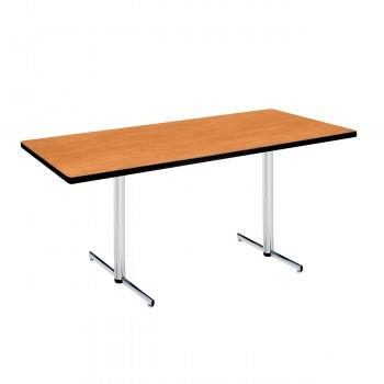 Rectangular Pedestal Table with PVC Edge (6810)