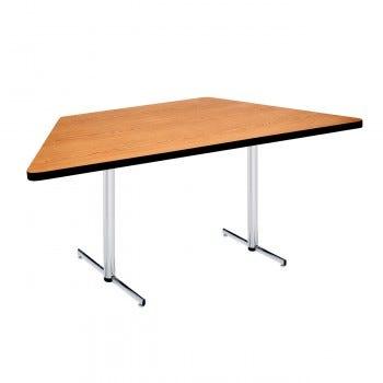 Trapezoidal Pedestal Table with PVC Edge (6829)