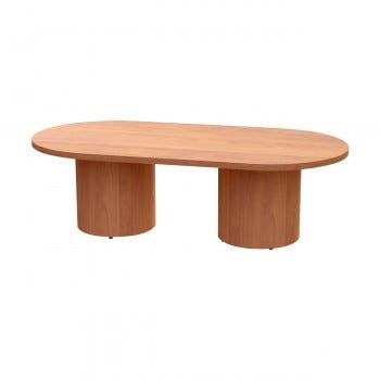 Versa Conference Table, Oval, Cylinder Base, Premium Top (VETCOC4896P)