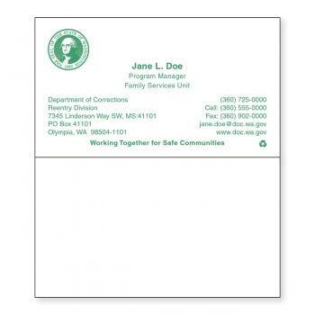 DOC Business Card (Blank Back)