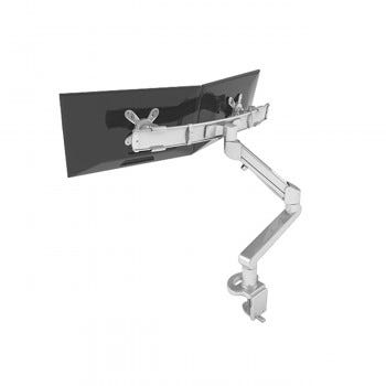 Edge2Max Dual Monitor Arm (Silver)