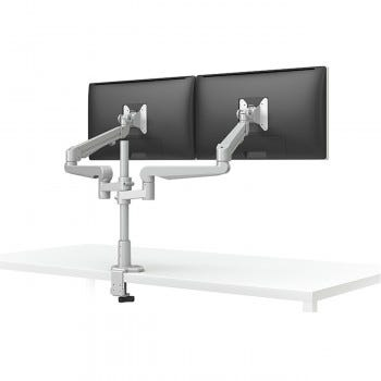 Evolve2-FM Dual Monitor Arm (Silver)