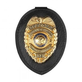 Clip-on Badge Holder, Badge Not Included (GL-06)