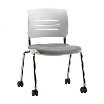 Grazie Chair, No Arms (Poly Back w/Upholstered Seat)