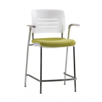 Grazie Stool (Poly Back w/Upholstered Seat)