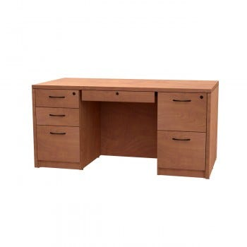 Versa Pedestal Desk, Right File/File Drawer with Locking Center Drawer
