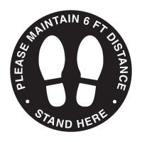 Social Distancing Decal (White/Black)